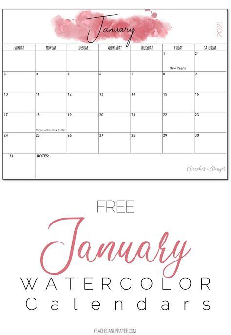 monthly calendar printables  options