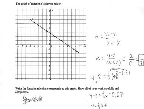 slope from a table worksheet interpreting slope and y intercept worksheets
