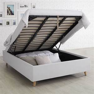 Verin Lit Coffre : qu 39 est ce qu 39 un lit coffre bien dormir ~ Teatrodelosmanantiales.com Idées de Décoration