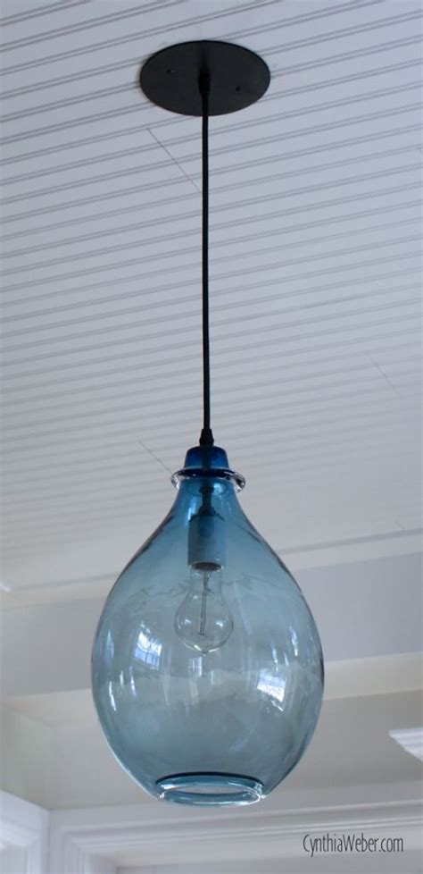blue kitchen pendant lights blue glass pendant light part of the client diaries 4830