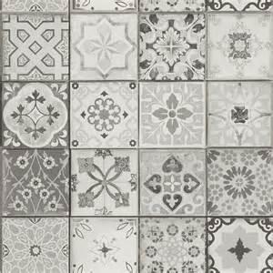 Papier Peint Effet Carreaux De Ciment by 1000 Id 233 Es 224 Propos De Carreaux De Vinyle Sur Pinterest