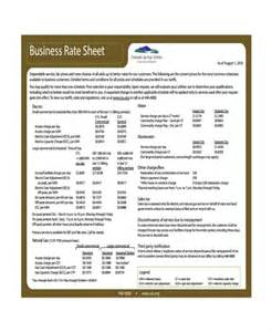 Rate Sheet Template Rate Sheet Template 9 Free Word Excel Pdf Document Free Premium Templates