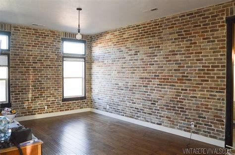 My Magical Ceiling And Floor Makeover by Faux Brick Veneer Wall New Home Project List Faux