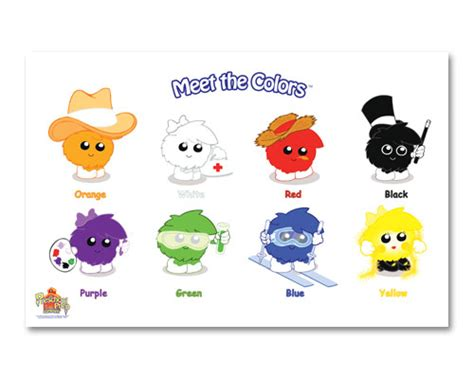 meet the colors preschool prep placemats wall hangings preschool prep company 988