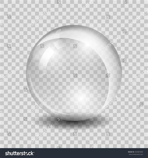 shiney glass white transparent glass sphere glass or ball shiny bubble glossy vector illustration