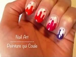 nail art facile peinture qui coule youtube With peinture sur vernis sans poncage