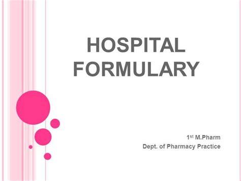 customize template formulary hospital formulary ppt authorstream
