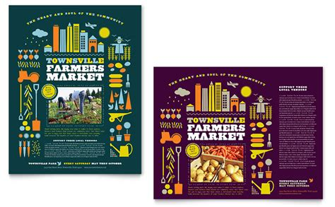 farmers market poster template word publisher