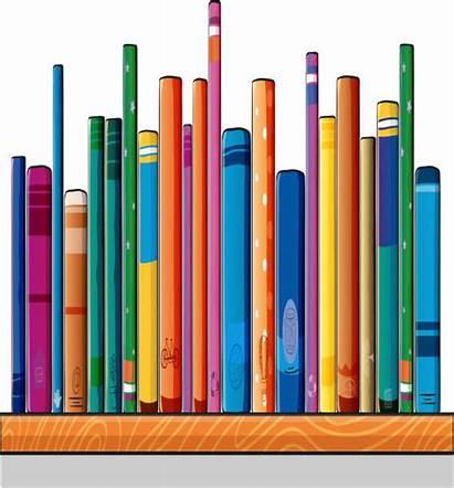 Books Shelf Different Clip Vector Illustrations Similar
