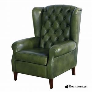 Fauteuil Style Anglais : fauteuil oreille dossier haut appui t te ~ Teatrodelosmanantiales.com Idées de Décoration