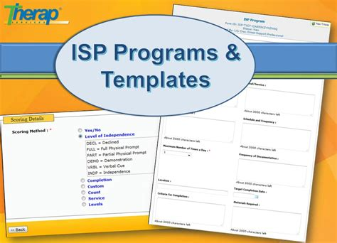 isp program template library therap