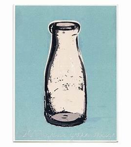 CLEARANCE Vintage Milk Bottle Blue Kitchen Decor Print