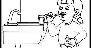 Image result for Niño cepillandose los dientes y cerrando