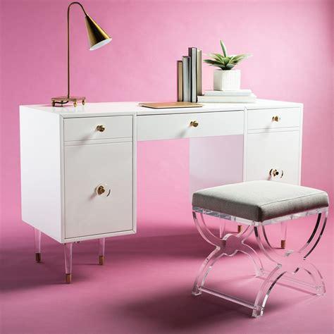 joelle acrylic leg desk safavieh