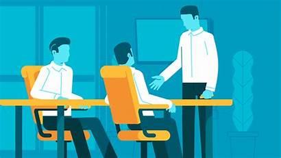 Business Start Animated Animation Program Create Flat