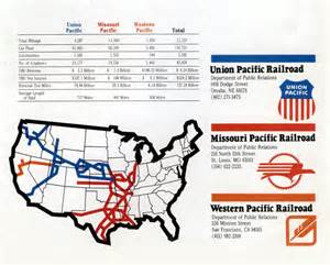 Union Pacific Railroad System Map