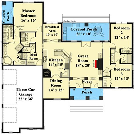 Southern Floor Plans by Southern Living 2574dh Architectural Designs House Plans