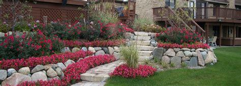 plantings hedges flower gardens michigan brick pavers