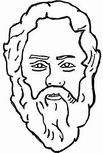 Plato Socrates Aristotle Cartoon Sketch Coloring Page