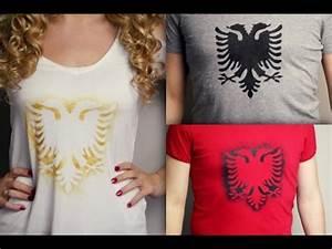 DIY T Shirt Selbst Bedrucken Mit Shqiponje Muster YouTube