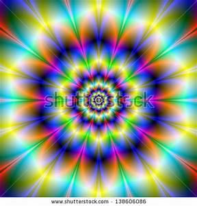 Green Star Burst Abstract Fractal Image Stock Illustration