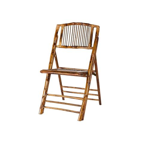 Bamboo Folding Chair  Am Party Rentals
