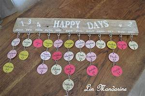 Fabriquer Un Calendrier Perpétuel : calendrier pour anniversaire id es cadeaux ~ Melissatoandfro.com Idées de Décoration