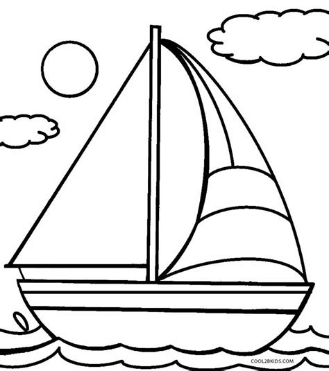 Sailboat Color by Printable Boat Coloring Pages For Cool2bkids