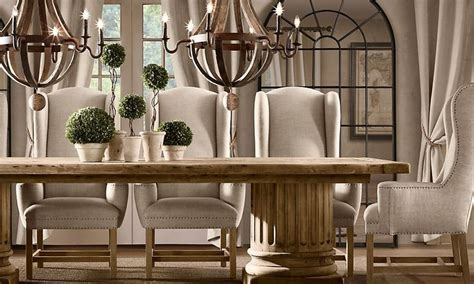 dining room  double chandelier topiary centerpiece
