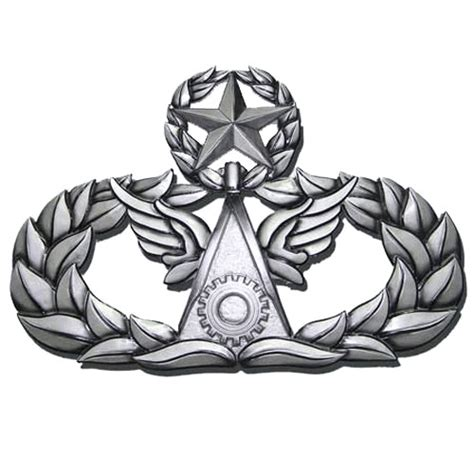 civil badge engineer master insignia plaque wings wooden
