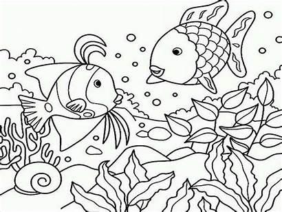 Coloring Sea Under Pages Ocean Fish Gossip