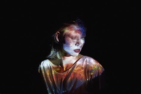 mads perchs hypnotizing light projection portraits