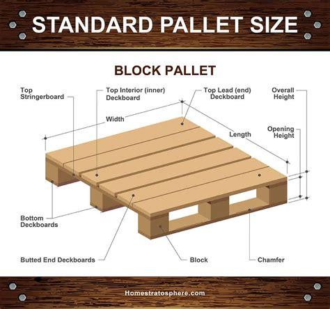 standard wood pallet dimensions  sizes diagrams