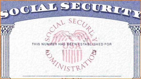 editable social security card template social security card template template ideas