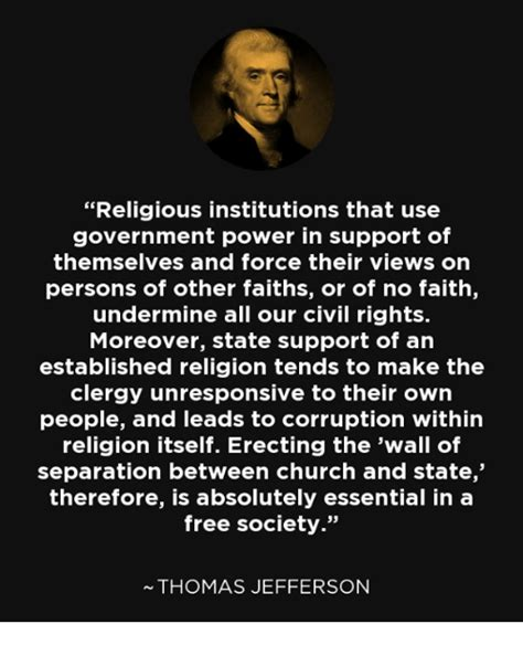 religious institutions   government power