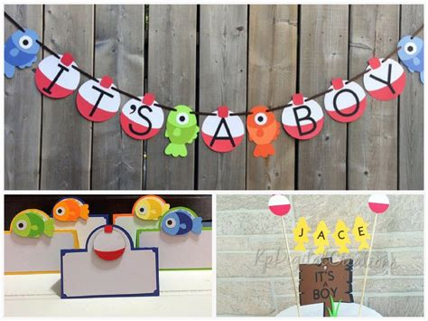 fishing themed baby shower decorations  party favors
