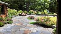 nice garden design patio ideas Decor Natural Stone Patio Designs Exterior Designs ~ aprar