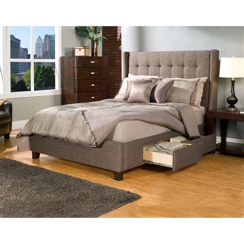 manhattan wingback tufted upholstered storage platform bed