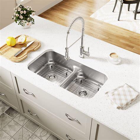 sided kitchen sinks 512 half divide stainless steel kitchen sink 6927