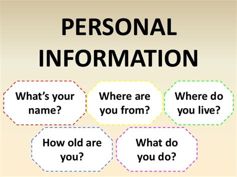 What Personal Information Do You Put On A Resume by Personal Information Questions And Writing