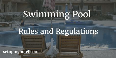 Swimming Pool Rules And Regulations Sample For (hotel
