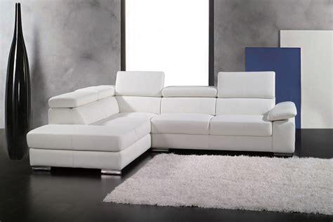 canapé d angle gauche canapé d 39 angle en cuir italien 5 places helios blanc