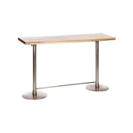 Table De Bar Haute Table Haute De Bar Rectangulaire Ajustable En Bois Et M 233 Tal Achat Vente Table Basse Table