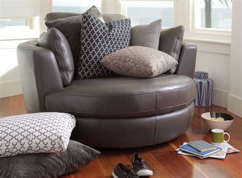 plush leather sofas round swivel cuddle chair big round