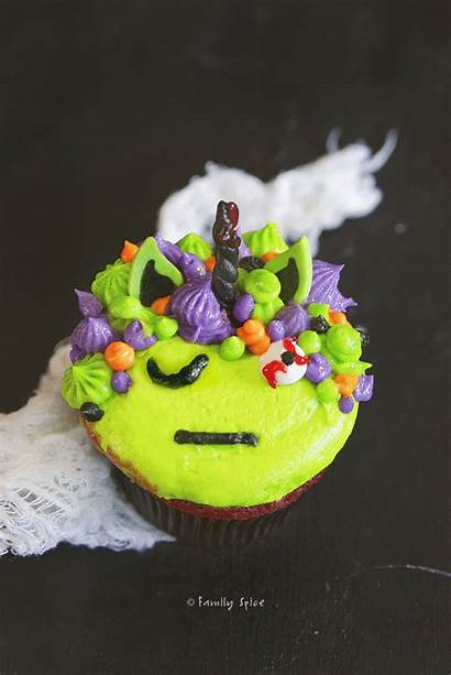 Unicorn Cupcakes Zombie Halloween Fondant Familyspice Spice