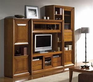 Meuble Tv Merisier Solutions Pour La Dcoration