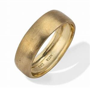 Men39s wedding band classic brushed matte 18k gold men39s for Mens matte gold wedding ring