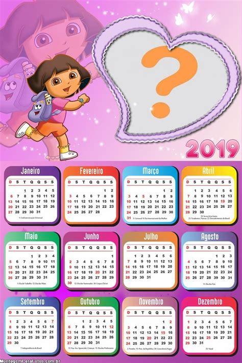 calendario dora montagem fotos