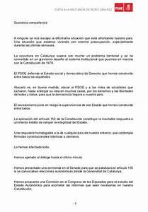 Carta A La Militancia Psoe De Pedro S U00e1nchez
