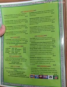 menu of corona andale rapido restaurant